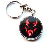 More details for mushroomhead alternative metal band chrome keyring picture both sides