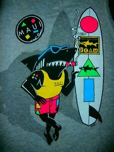MAUI & SONS FLY SHARK Muscle TANK SINGLET SHIRT TAG UNISEX M SURF SKATE YOGA GYM