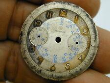 HELBROS 32 MM CURVED EDGE WONDERFULLY AGED CHRONOGRAPH DIAL