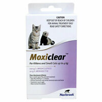 Moxiclear Flea & Worm Treatment For Cats and Kittens up to 4kg 3pack