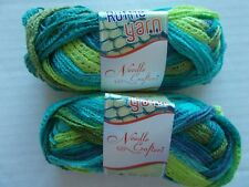 Needle Crafters Wide Mesh Ruffle yarn, Everglade, lot of 2 (15 yds, 1.75 oz ea)