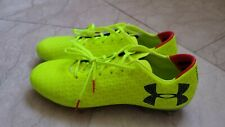 under armour mens sz9.5 clutch fit force 3.0 fg soccer cleats 1278817 726 yellow