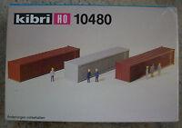 Kibri 10480 H0 1:87  3x 40 FUSS CONTAINER Rarität