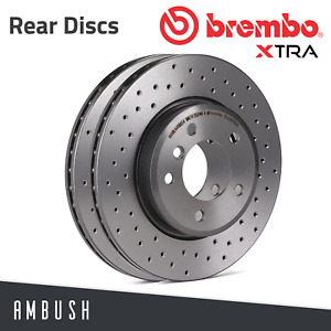 Fit Ford Fiesta ST150 ST180 Focus Mk1 Brembo Xtra Drilled Brake Discs Rear 253mm