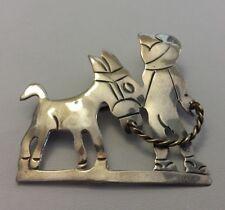 Vintage Mexican Sterling Silver Brooch BOY DONKEY BURRO PIN Taxco Broche Alpaca