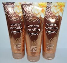 Lot Of 3 Bath & Body Works Warm Vanilla Sugar Ultra Shea Cream Hand Lotion 8 Oz