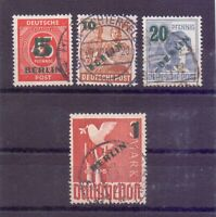 Berlin 1949 - Grün-Aufdruck - MiNr. 64/67 rund gestempelt - Michel 40,00 € (266)