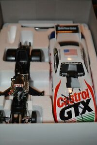 JOHN FORCE  1/24 CASTROL FUNNY CAR WITH AUTOGRAPH ON HOOD
