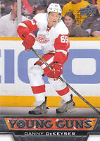 13/14 UPPER DECK YOUNG GUNS ROOKIE RC #227 DANNY DEKEYSER RED WINGS *27826