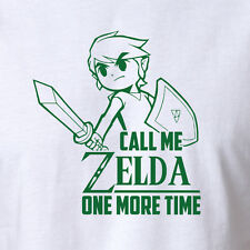 Nerd Geek Video Game T-shirt Costume - Call Me Zelda One More Time - All Sizes