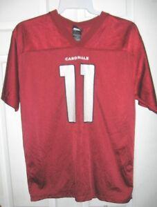 Arizona Cardinals NFL Reebok Burgundy Larry Fitzgerald #11 Youth XL Jersey