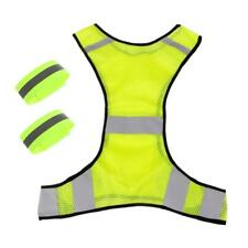 High Visibility Safety Reflective Vest Jacket Arm Leg Band for Night Running
