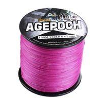 4/8 Braid 100M-2000M Pink 10-300LB 100% PE Dyneema Agepoch Braided Fishing Line