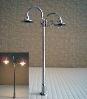 S149 - Set 10 Stück Lampen Straßenlampen nostalgisch 2-flammig 6,5cm