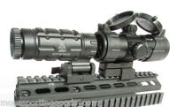 Red Dot Scope with 3x Flip to Side Magnifier Combo - UTG Rifle Scope - Leapers