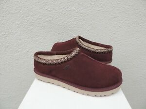 UGG TASMAN BURGUNDY SUEDE/ SHEEPSKIN SLIPPERS/ SHOES, MEN US 9/ EUR 42 ~NIB