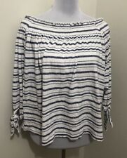 Ladies SPORTSGIRL Striped Stretch Top. Size Med. EUC