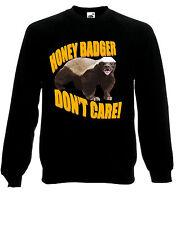 Honey Badger Don't Care / Give A F**k Meme Jumper Sweatshirt Sweats Top AE93
