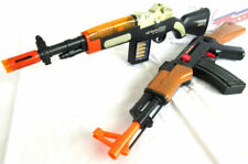 2x Toy Guns! Electronic M1 Toy Rifle with Sound FX & Friction AK-47 Toy Rifle