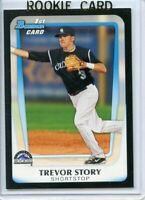 2011 Bowman Draft Prospects #BDPP84 TREVOR STORY Colorado Rockies RC Rookie Card