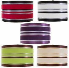 Fabric ribbon Drum Shade Ceiling Light Pendant lamp shade dia 11'' round