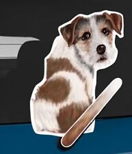 Jack Russell Dog Rear Car Window Sticker With Wagging Tail To Fit On Wiper Arm