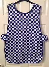 Wholesale Job Lot 6 New Tabards Aprons Blue White Check Cafe Catering Florist