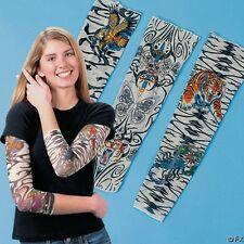 36 Mix Nylon Stretchy Temporary Tattoo Sleeves Fake Arm Stockings New
