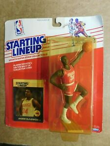 AKEEM OLAJUWON 1988 STARTING LINEUP FIGURE W/ COLLECTOR CARD-See Note