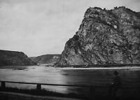 GERMANY Lorelei Rock Cliffs on Rhine River - 1920s Photogravure Print