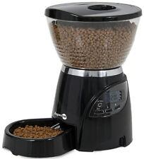 Petmate 5LB Le Bistro Portion Control Black Cat Dog Feeder