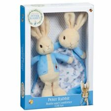 Peter Rabbit Rattle and Comforter Gift Set Beatrix Potter Baby Shower Idea