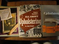5 BOOKS ALL ABOUT FURNITURE UPHOLSTERY UPHOLSTERING FABRIC HANDPAINTING & PHOTOS