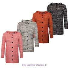 Hooded Button Long Sleeve Jumpers & Cardigans for Women