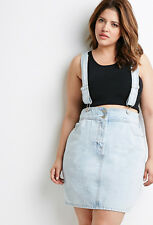 Forever 21 Plus Size Light Denim Overall Dress 2X