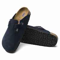 Birkenstock Boston Soft Footbed Night Suede Leather Clog - NEW - Choose Size