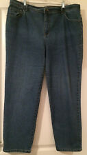 "Gloria Vanderbilt Blue Jeans 20W 30-1/4"" Inseam 75% Cotton 25% Poly Evenly Blue"