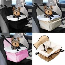 Travel Folding Dog Cat Pet Puppy Car Carrier Booster Seat Safety Bag Belt Cover