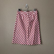 Twinkle by Wenlan Anthropologie Red And White Chevron Skirt Size XS Extra Small