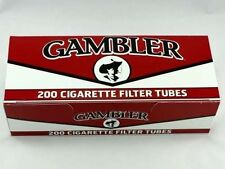 Gambler Full Flavor King Size Cigarette Tubes 200 Count Box
