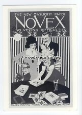 ad0672 - Novex - New Gaslight Paper For Home Photography  Modern Advert Postcard