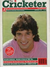 THE CRICKETER INTERNATIONAL MAGAZINE 1990 - ALL ISSUES COMPLETE EXCEPT APRIL