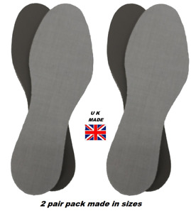2 Pair Pack of Extra Thick Comfort Ready Cut to Size Shoe Insoles Sizes 3 to 17s