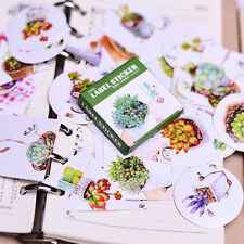 1 box 40 PCS succulent plants Scrapbooking envelope diary Decorative sticker