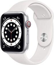 Reloj de Apple serie 6 40mm Estuche de Aluminio Plata Blanco Sport banda Gps + Celular