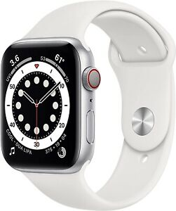 Apple Watch Series 6 40mm Silver Aluminum Case White Sport Band  GPS + Cellular