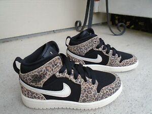Nike Air Jordan 1 Mid SE (PS) Size 11C Leopard Cheetah Print unisex BQ6932-021