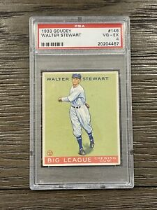 1933 Goudey Walter Stewart PSA 4 Washington #146