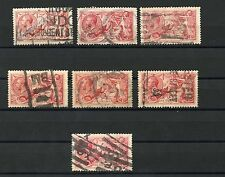 GREAT BRITAIN  SEAHORSES  5/  LOT OF SEVEN 1 STAMP CREASED USED HAVE FUN BIDDING
