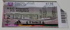 Ticket for collectors EC Anderlecht Brussel FC Midtjylland 2002 Belgium Denmark